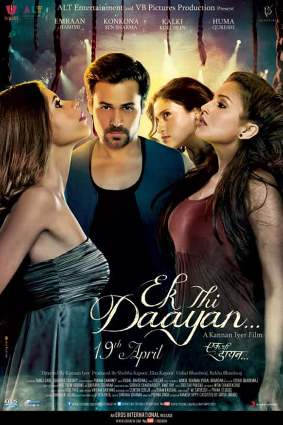 Here's the brand new poster of the supernatural thriller 'Ek Thi Daayan'!