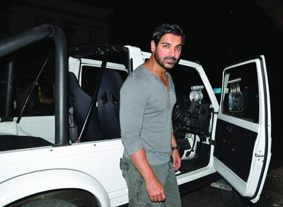 John Abraham was recently spotted out on a midnight drive.