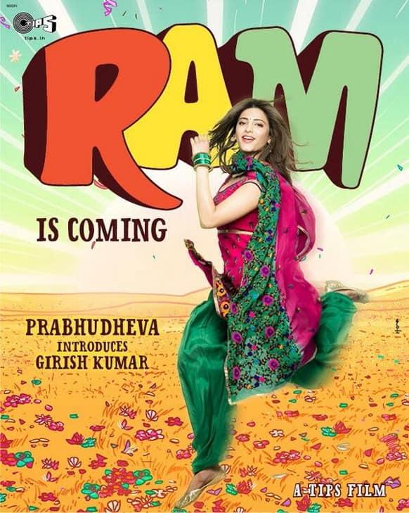 Here's the brand new poster of Prabhudeva's 'Ramaiya Vastavaiya' for you!