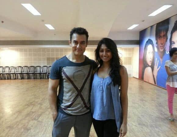Aamir Khan on the sets of Dhoom 3.   Image Courtesy: Pinkvilla