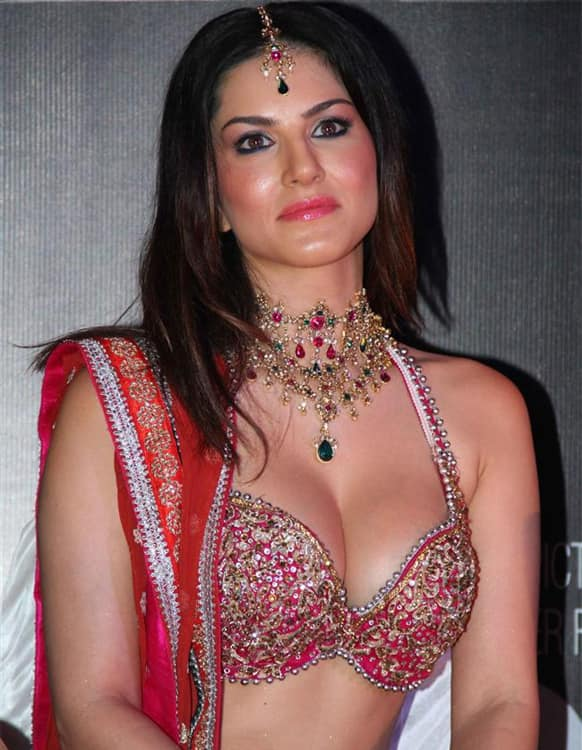 Sunny Leone in her 'desi' avatar at the launch of the song 'Laila' from the film 'Shootout At Wadala'. The film releases May 3, 2013.