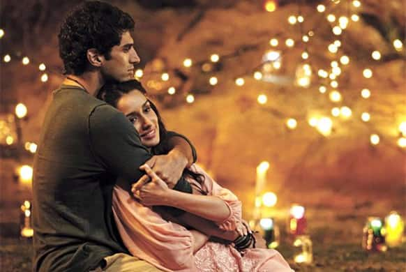 Aditya Roy Kapur and Shraddha Kapoor in a still from the film 'Aashiqui 2'. Directed by Mohit Suri, the film hits theatres April 26, 2013.