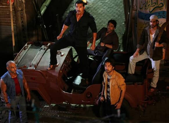 Siddhant Kapoor, Anu Malik and John Abraham at the launch of the song 'Ala re ala' from 'Shootout At Wadala'.