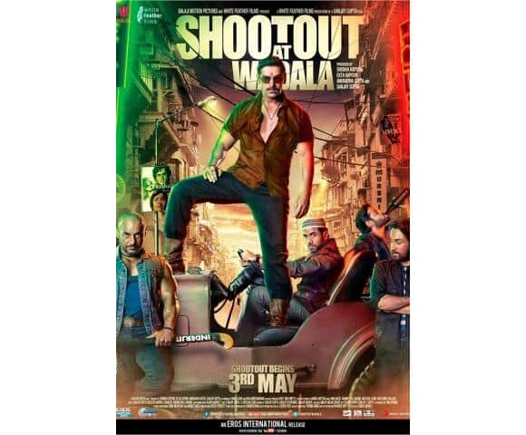 Chewck out the new poster of 'Shootout At Wadala'.      Image Courtsey: @Sophie_Choudry