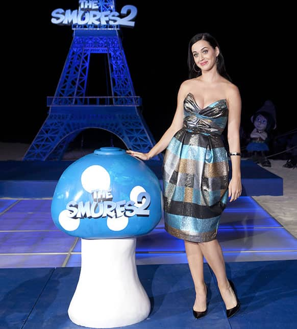 US Actress Katy Perry, poses for photos to promote their upcoming film