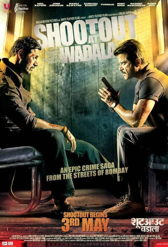 John Abraham and Anil Kapoor in the brand new poster of 'Shootout At Wadala'. The film releases May 3, 2013.