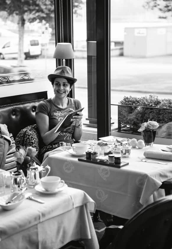 Gul Panag was spotted in Switzerland recently.