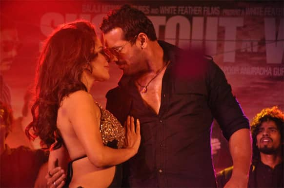 Sophie Choudry and John Abraham in a still from the film 'Shootout At Wadala'.