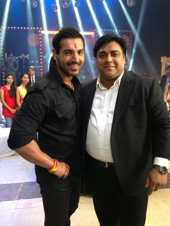 John Abraham, in his Manya Surve avatar, was recently spotted with actor Ram Kapoor at a promotional event for 'Shootout At Wadala'.