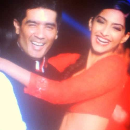 Sonam Kapoor shared this pic of hers with Manish Malhotra on Instagram.