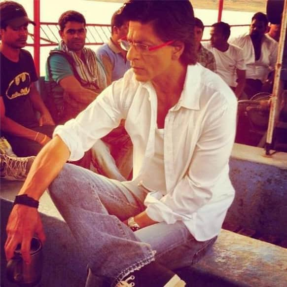Shah Rukh Khan on the sets on 'Chennai Express'.