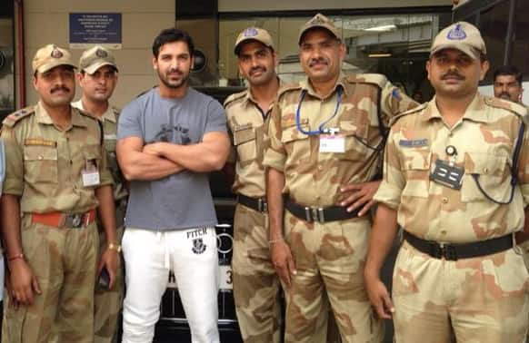 John Abraham posted this pic of his on Twitter.