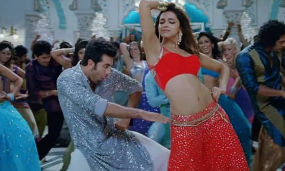 Ex-lovers Ranbir Kapoor and Deepika Padukone in 'Dilliwali Girlfriend' from 'Yeh Jawaani Hai Deewani'.