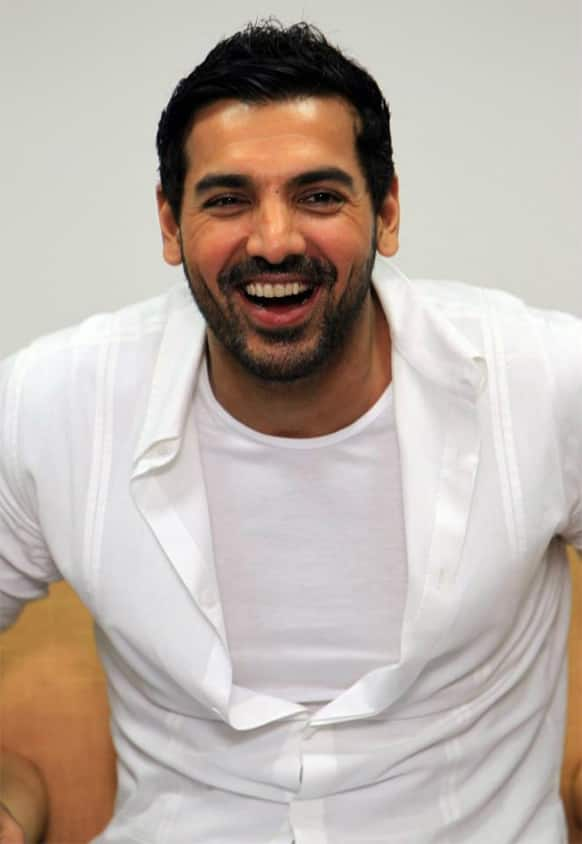 John Abraham snapped in a candid moment.