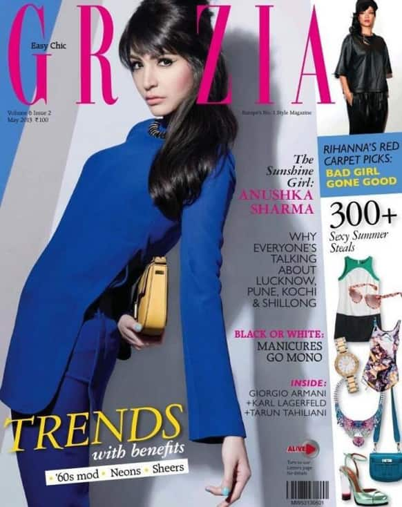 Anushka Sharma on the cover of the May 2013 issue of Grazia.