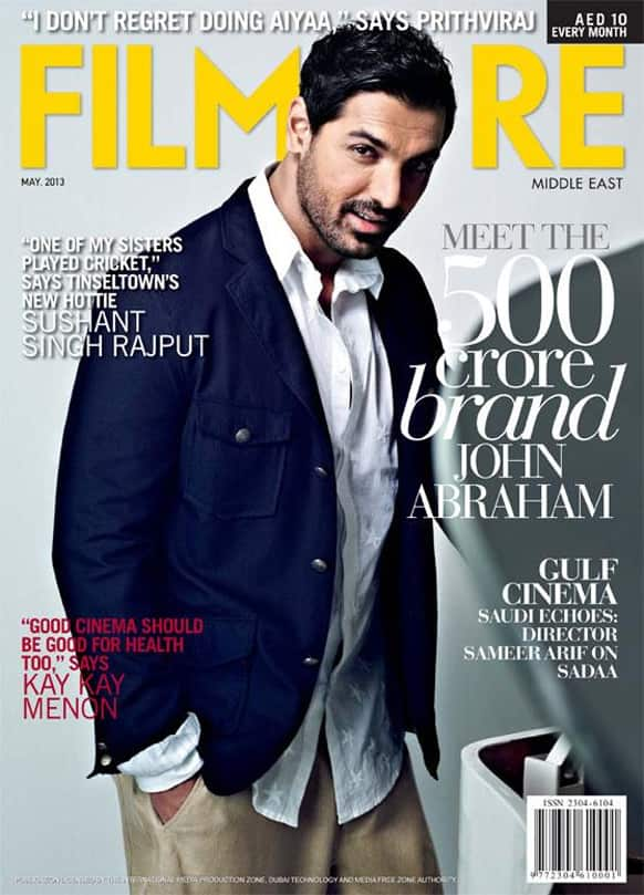 John Abraham adorns the cover of the May 2013 issue of Filmfare Middle East.