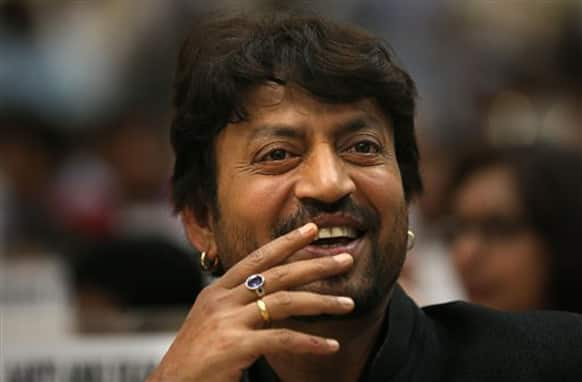 Irrfan Khan, who won the award for the Best Actor at the 60th National Film Awards, snapped in a candid moment.