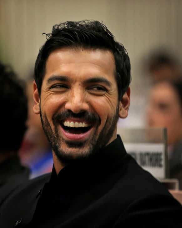 Bollywood actor John Abraham attends the National Film Awards 2012, in New Delhi. Abraham's debut production