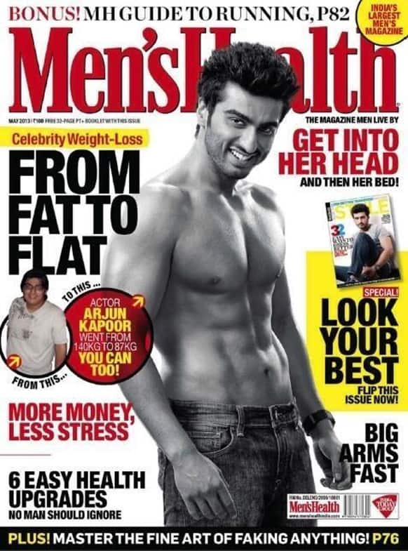 Arjun Kapoor on the cover of the May 2013 issue of Men's Health.