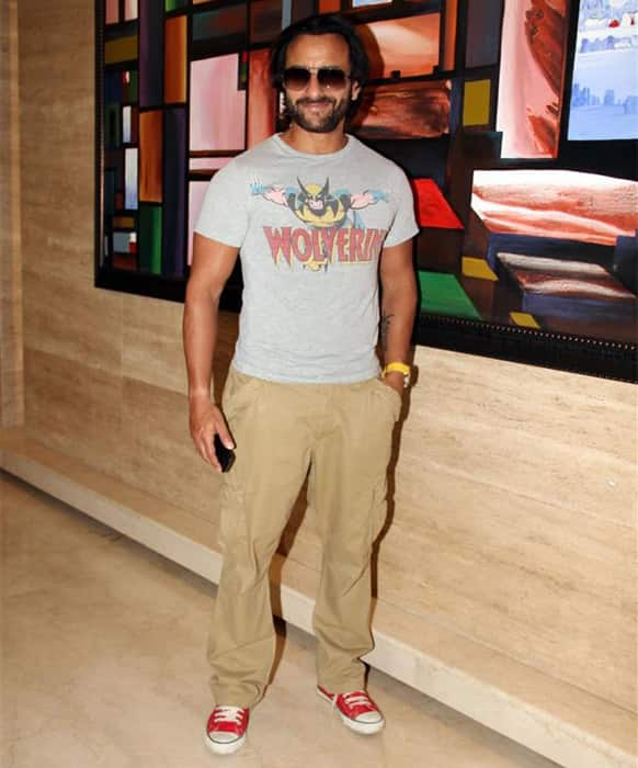 Saif Ali Khan was snapped at an event celebrating 100 years of Indian Cinema.