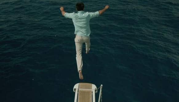 Ranbir Kapoor ready to take the plunge in a new still from 'Yeh Jawaani Hai Deewani'.
