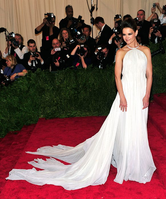 Katie Holmes attends The Metropolitan Museum of Art's Costume Institute benefit celebrating