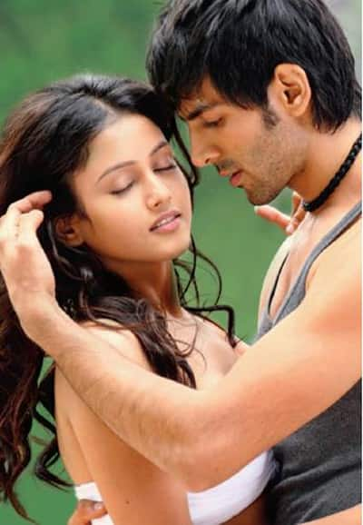 Kartik Tiwari and Mishti in a still from Subhash Ghai's 'Kaanchi'. The film is currently being shot.