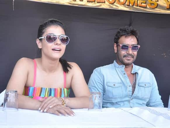 Kajol and Ajay Devgn in Lonavala. Image Courtesy: Filmfare