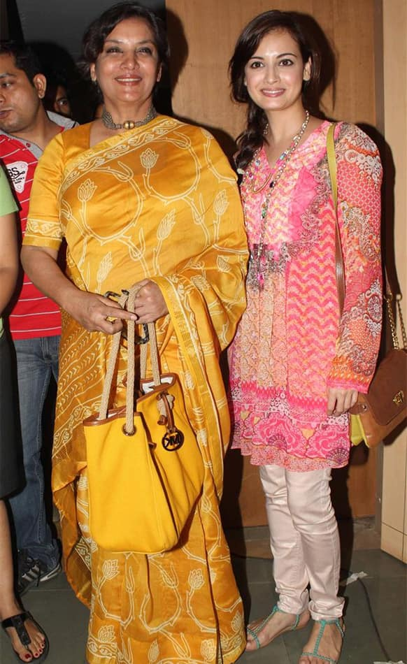 Shabana Azmi and Dia Mirza were spotted at an event.