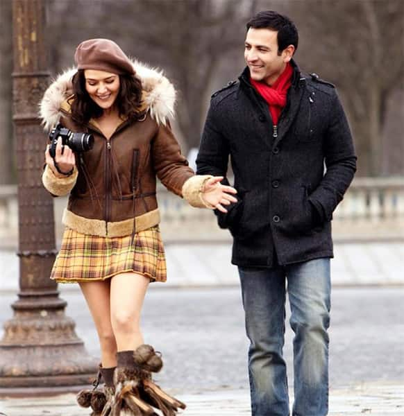 Preity Zinta and Rhehan Malliek in a still from 'Ishkq in Paris'. The film hits theatres May 24.