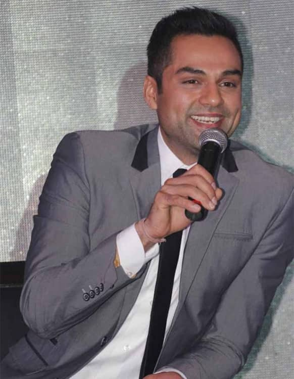 Abhay Deol answers the media at the launch of the Zee TV programme 'Connected Hum Tum'.