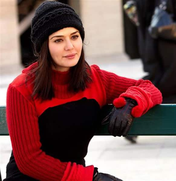 Preity Zinta in a still from her upcoming film 'Ishkq in Paris'.