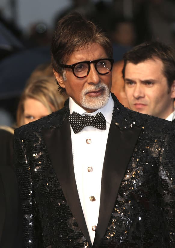 Amitabh Bachchan arrives for the opening ceremony and the screening of The Great Gatsby at the 66th international film festival, in Cannes.