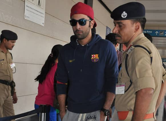 Ranbir Kapoor was snapped at the airport recently.