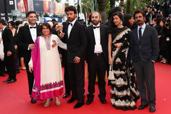 The cast of 'The Lunchbox' at Cannes Red Carpet.