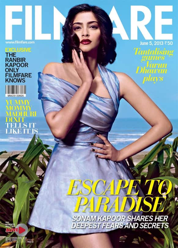 This is what the June 5, 2013 issue of Filmfare looks like - with Sonam Kapoor, the cover girl!