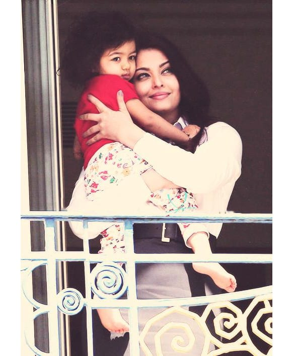 Aishwarya Rai spotted with Aaradhya Bachchan at Cannes.