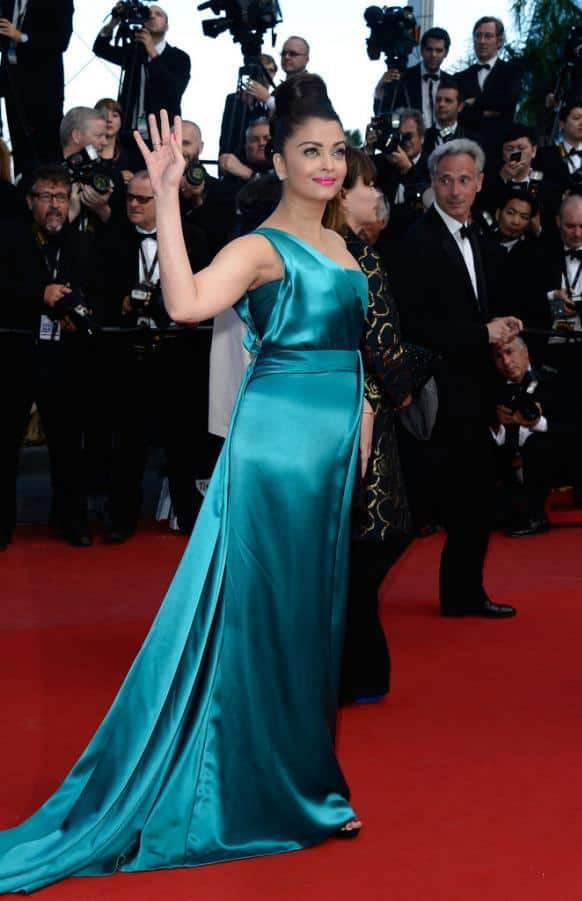 Aishwarya Rai Bachchan at the premiere of 'Cleopatra' at the Cannes Film Festival.