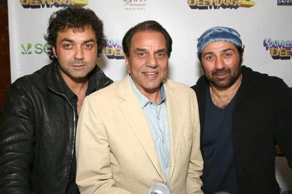 The Deols at a press conference at the Michelin-star restaurant, Junoon in New York.
