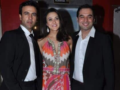 Preity Zinta  and Rhehan Malliek at the premiere of 'Ishkq In Paris'. Image Courtesy: Filmfare
