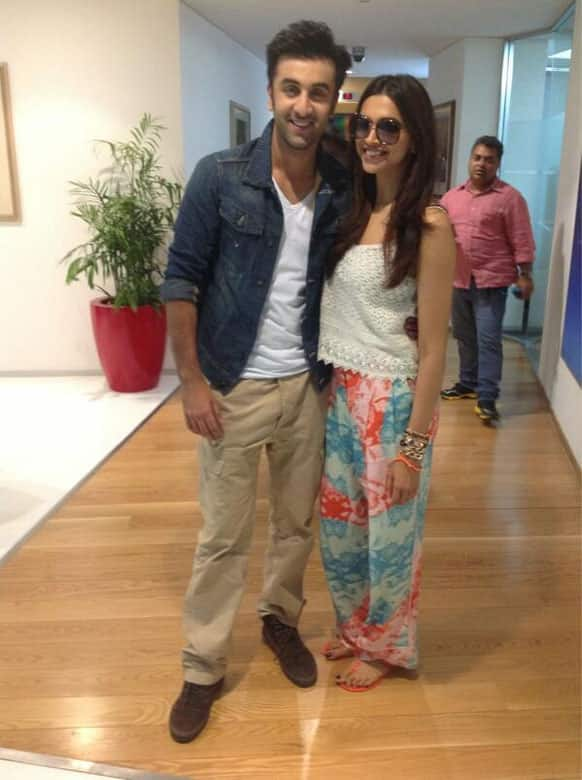 Deepika and Ranbir are on a 'Yeh Jawaani Hai Deewani' promotional spree.