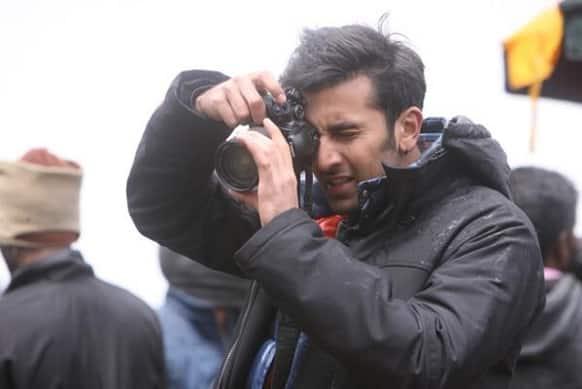 Ranbir Kapoor on the sets of 'Yeh Jawaani Hai Deewani'.