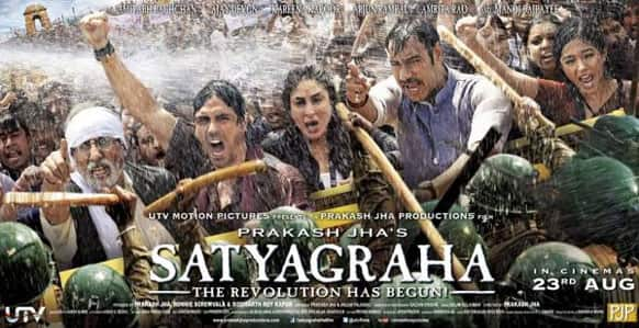 Have a look at the first official poster of Prakash Jha's 'Satyagraha'.