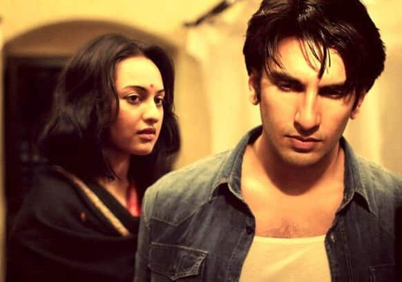 Sonakshi Sinha and Ranveer Singh in a still from 'Lootera'.
