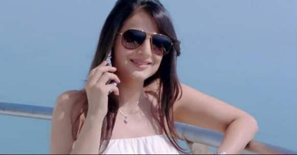 Ameesha Patel in a still from 'Shortcut Romeo'.