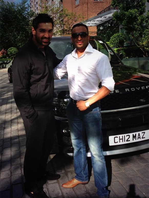 John Abraham was spotted in London recently.