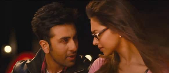 Ex-lovers Ranbir Kapoor and Deepika Padukone in a still from 'Yeh Jawaani Hai Deewani'.