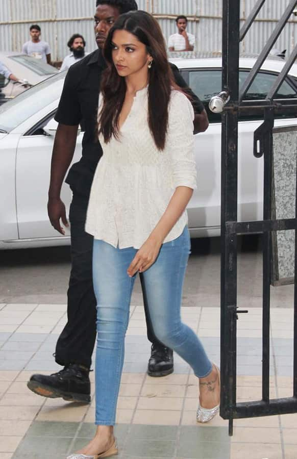 Deepika Padukone at the condolence meet for Jiah Khan.