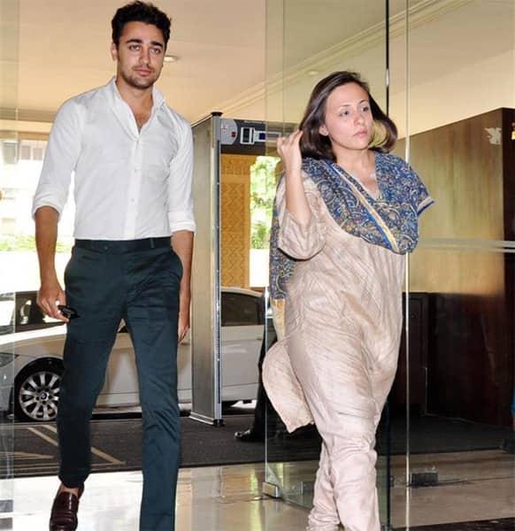 Imran Khan and Avantika Malik at Dr. Ashok Chopra's condolence meet.