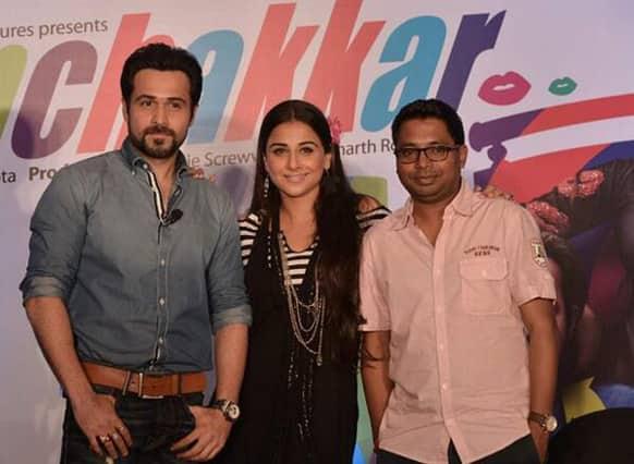Emraan Hashmi and Vidya Balan promote their upcoming movie 'Ghanchakkar'. Image Courtesy: Filmfare